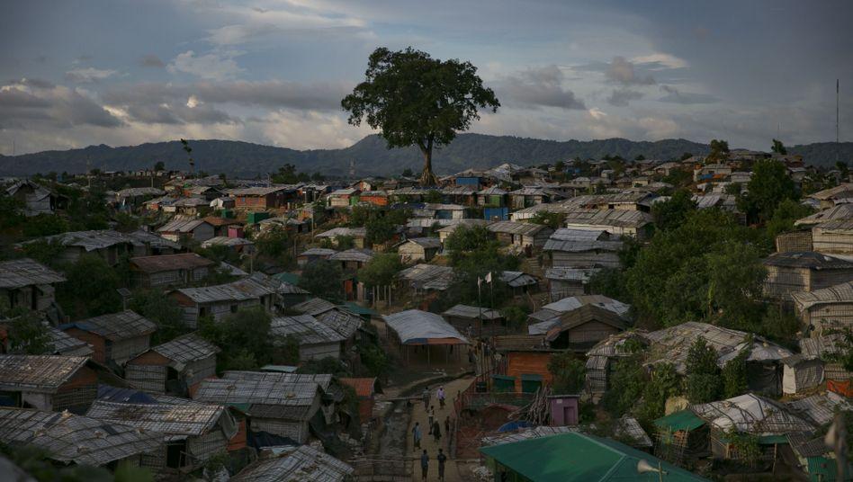 Ein Flüchtlingslager der Rohingya in Bangladesch: Zurück nach Myanmar wollen die Menschen vorerst nicht