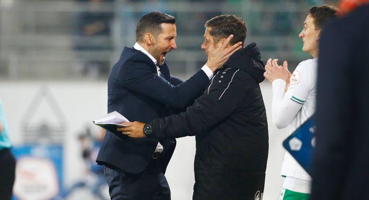 Joe Zinnbauer (l.) als Cheftrainer beim FC St. Gallen