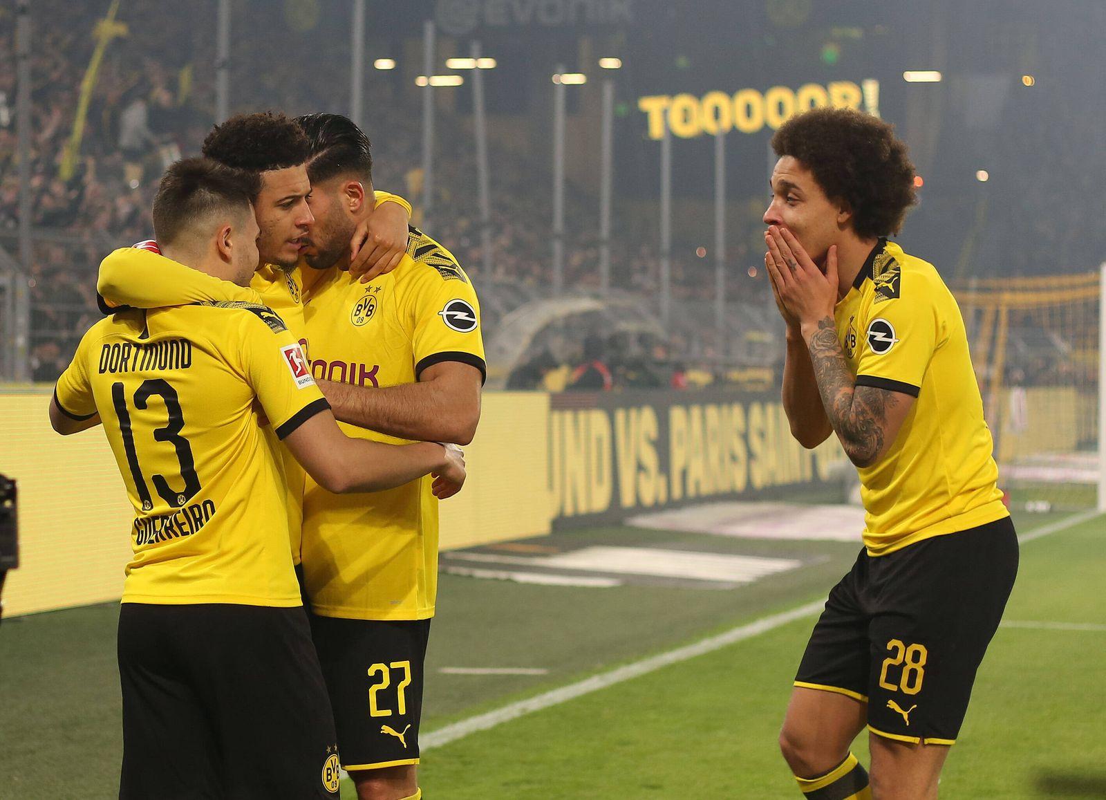 14.02.2020, Fussball 1. Bundesliga 2019/2020, 22. Spieltag, Borussia Dortmund gegen Eintracht Frankfurt, im Signal Idun