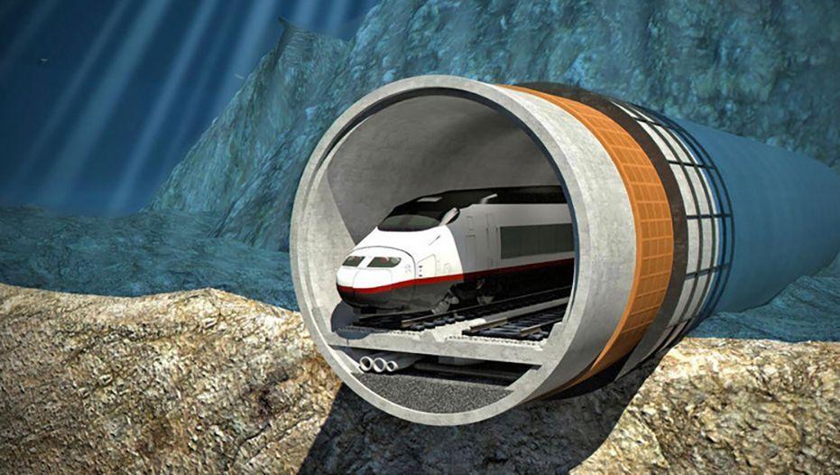 """Ein Modell des geplanten Tunnels: """"2024 nicht realistisch"""""""