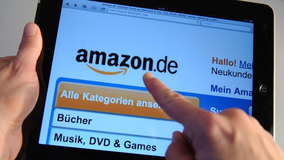 Amazon-Seite: Das Unternehmen nutzt Leiharbeiter, um Spitzenzeiten zu bewältigen