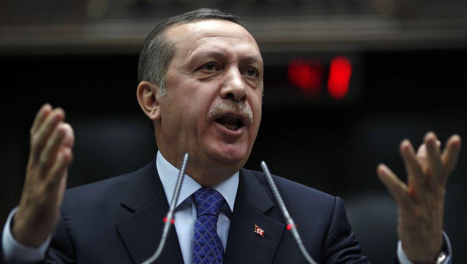 Türkischer Premier Erdogan: Preis wird nicht in Abwesenheit verliehen