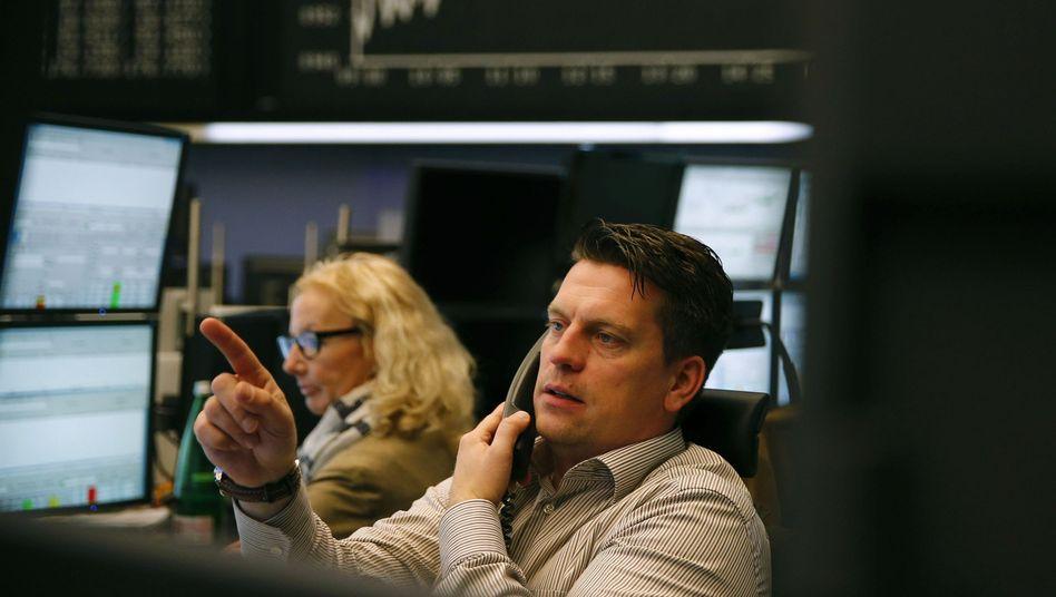 Trader in Frankfurt/Main: Kurse zu schnell zu hoch gestiegen?