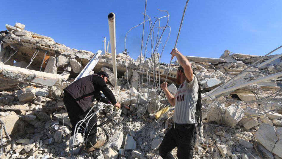 Zerstörtes Krankenhaus in der Idlib-Provinz