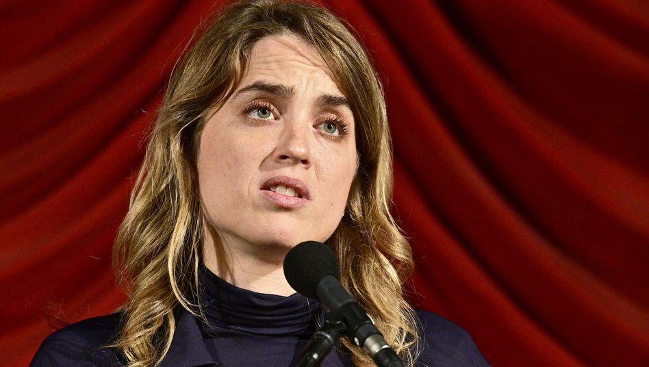 """""""Für das Gemeinwohl"""": Adèle Haenel bei einer Filmpremiere in Wien im Oktober"""