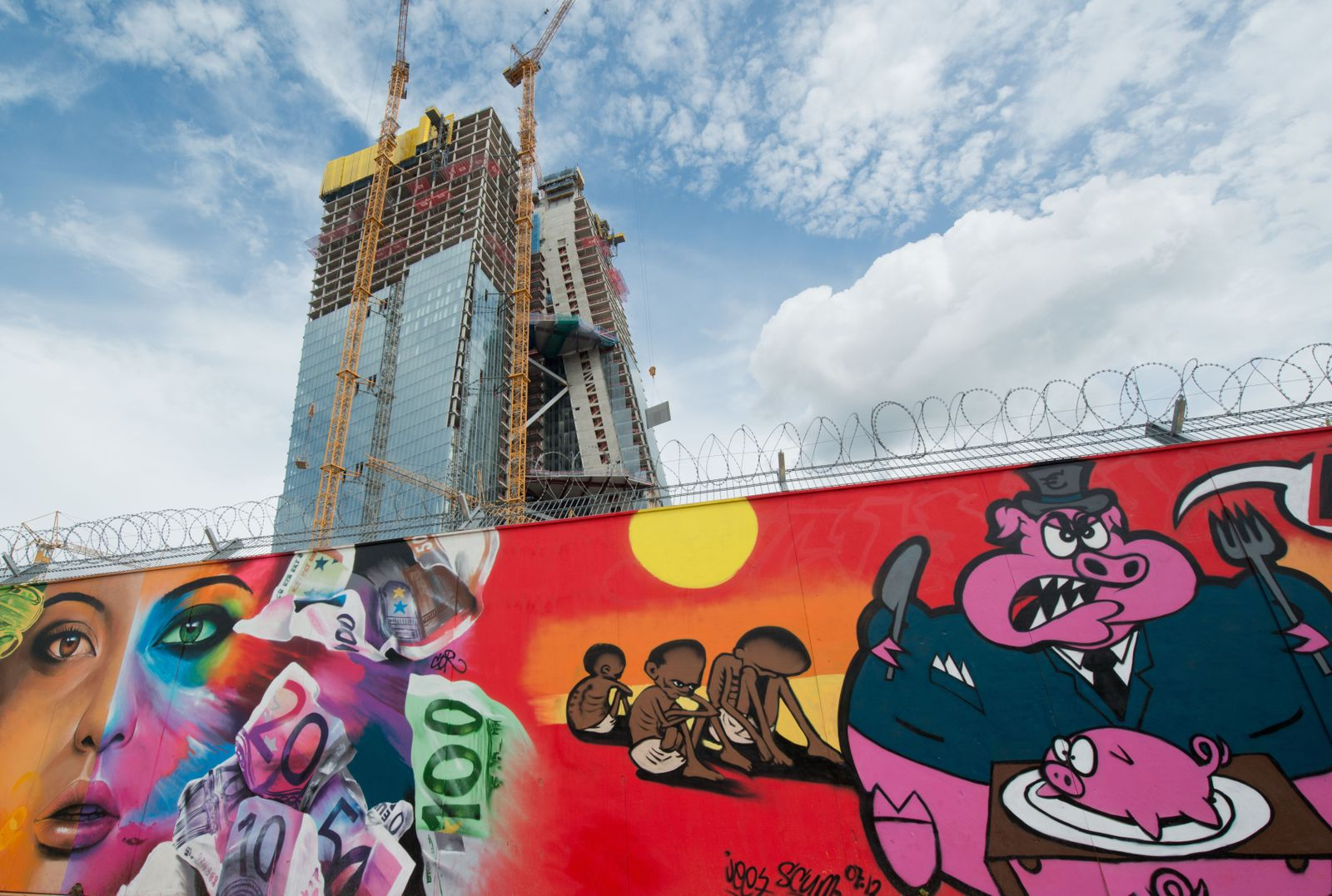 EZB/ Neubau/ Graffiti