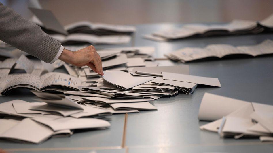 Stimmzettel der Bundestagswahl in Berlin (Symbolbild)