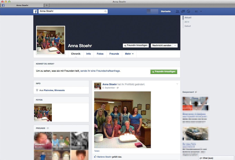 EINMALIGE VERWENDUNG NUR ALS ZITAT Screenshot/ Facebook/ Anna Stoehr
