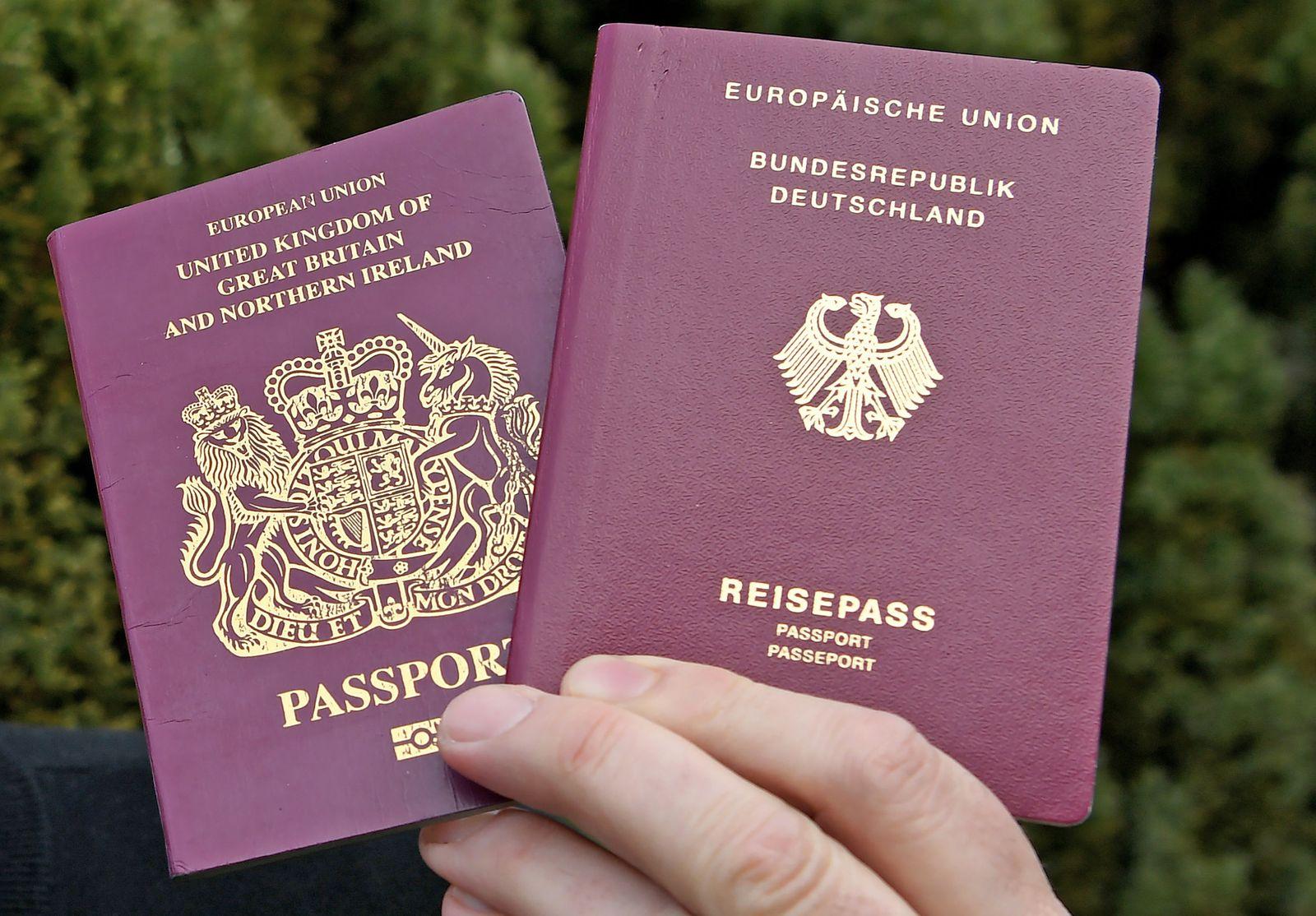 Britischer und deutscher Reisepass