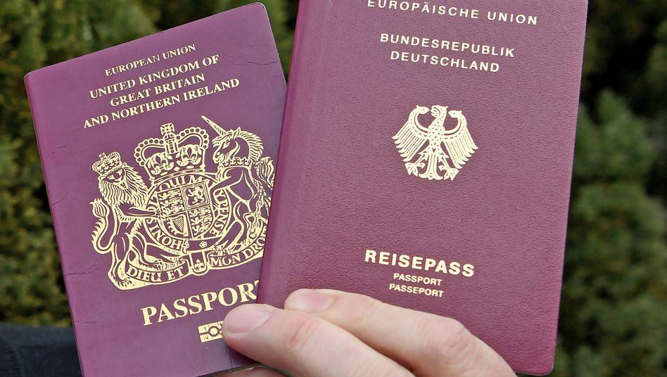 Britischer und deutscher Reisepass: Die Bundesregierung plant eine Übergangsphase für Briten in Deutschland