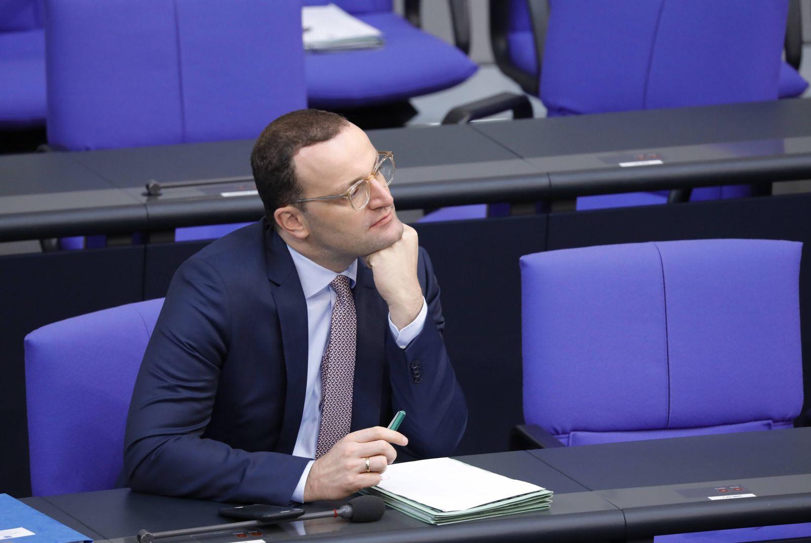 EINMALIGE VERWENDUNG Jens Spahn/ Bundestag/ 2018