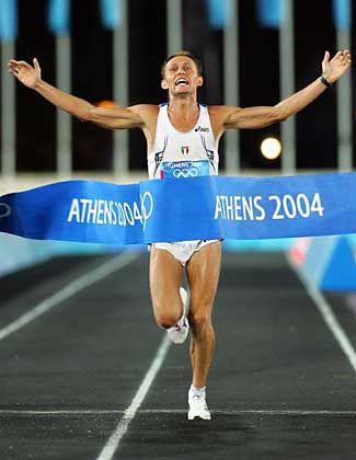 Der letzte Held: Stefano Baldini gewann den historischen Marathonlauf