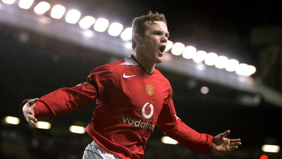 16 Jahre ist das her: Wayne Rooney, im Jahr 2005 für Manchester United aktiv