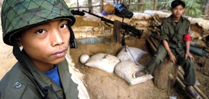 Kindersoldaten der Karen-Rebellen in Burma: Menschenrechtler schlagen Alarm