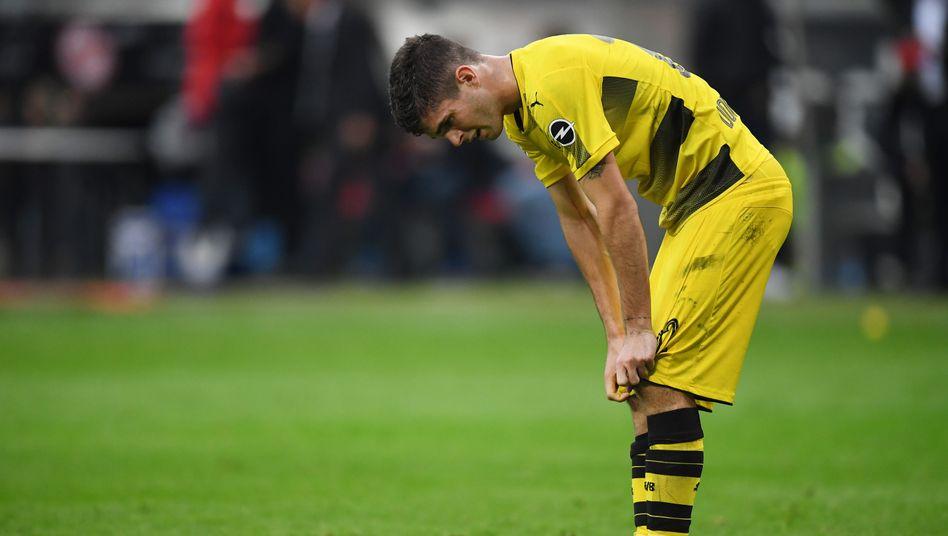 Der enttäuschte Dortmunder Christian Pulisic