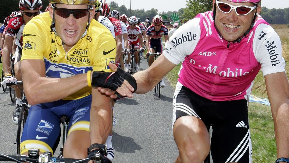 Ex-Radprofi Lance Armstrong (l.), Jan Ullrich