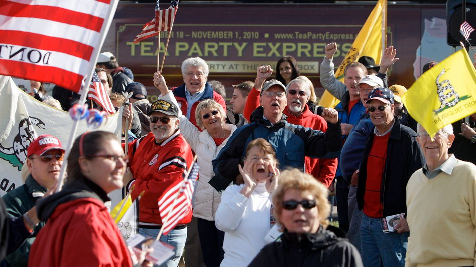 """Tea Party movement supporters rally in Ohio. """"We are already seeing the hallmarks of the politics of anger and resentment,"""" says Robert Reich."""