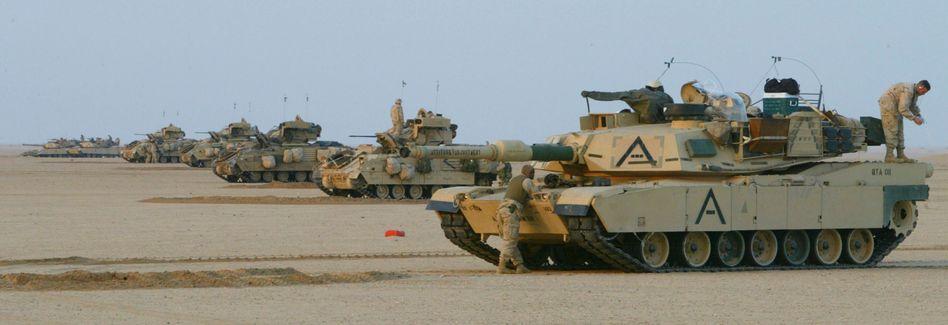 US-Panzer nahe der Grenze zu Kuwait (Archivaufnahme)