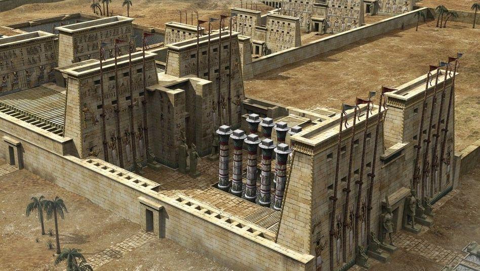 Der Amun-Tempel von Karnak in der Rekonstruktion