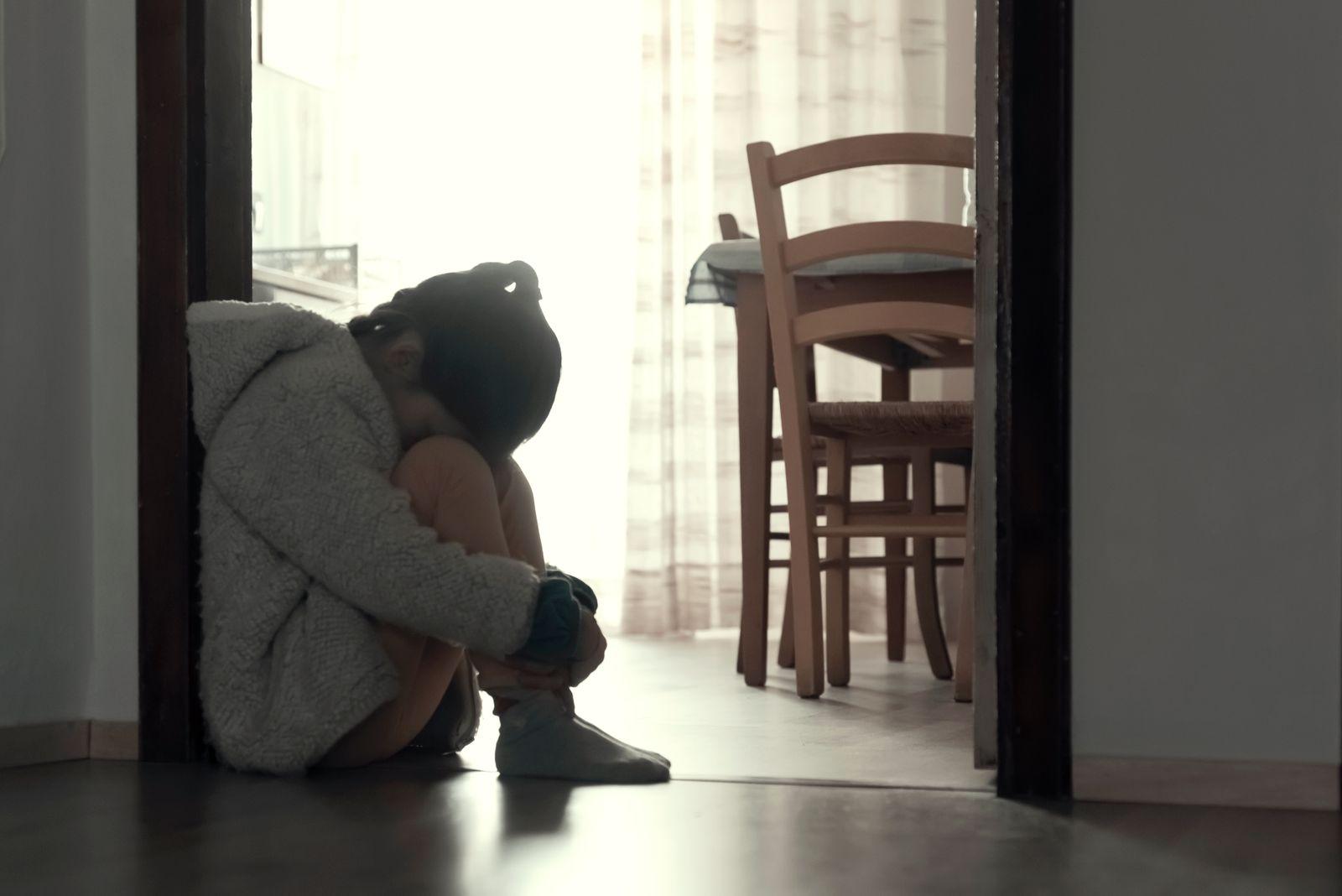 Depressed little girls
