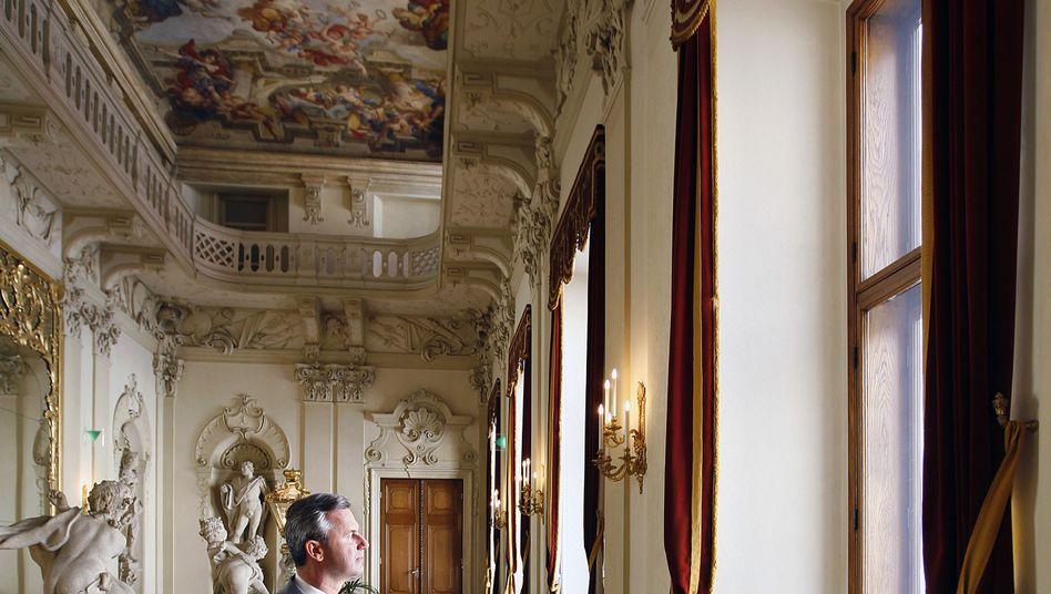 Präsidentschaftskandidat Norbert Hofer im Wiener Palais Daun-Kinsky