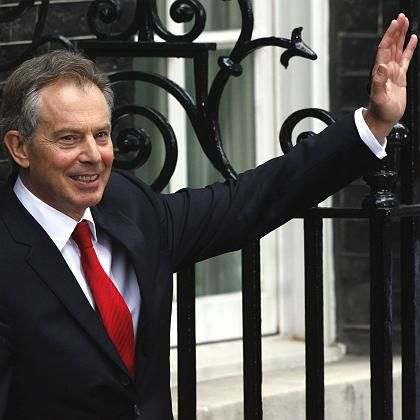 Blair vor Downing Street 10: Letzter Gruß