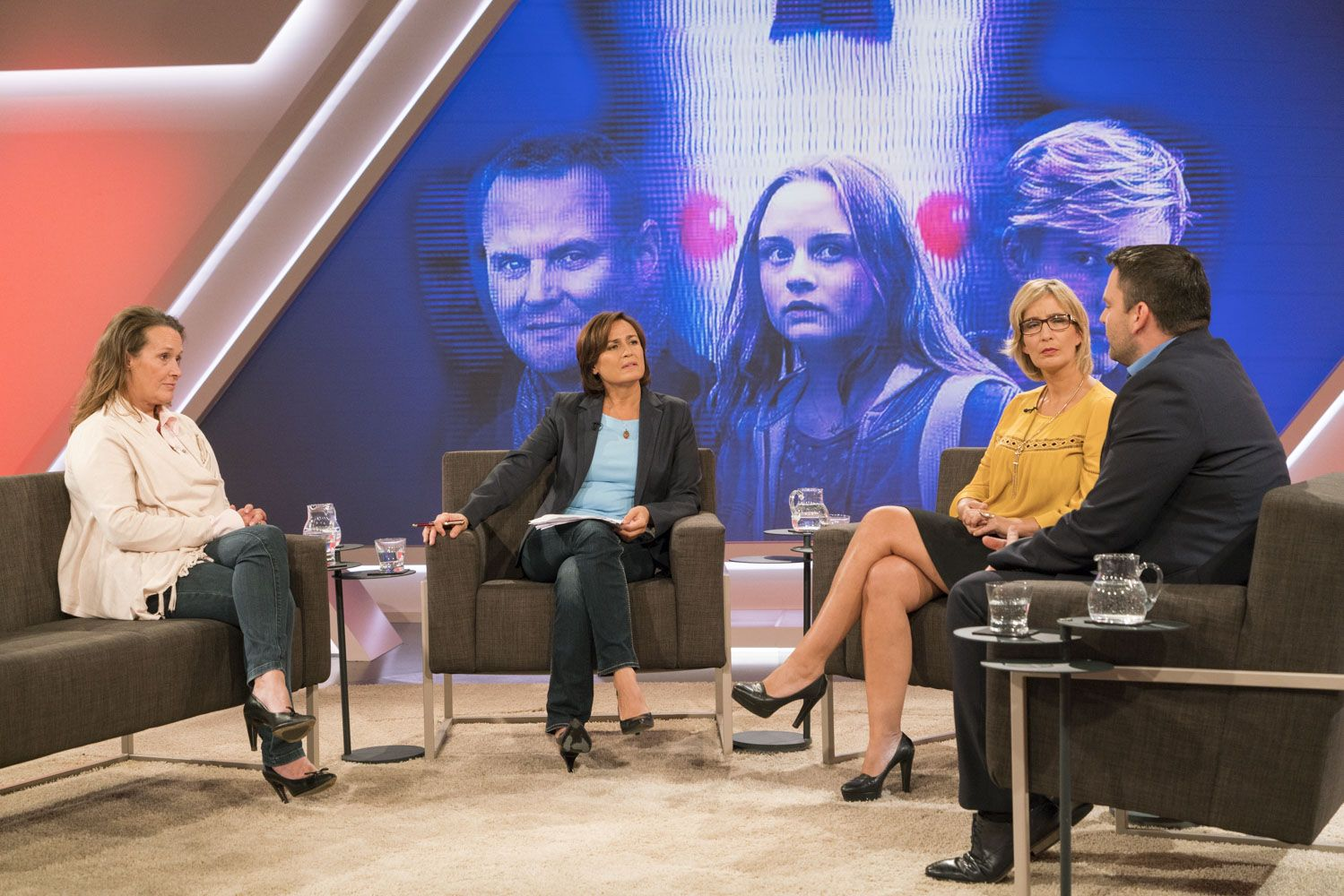 EINMALIGE VERWENDUNG Maischberger/ Sendung 28.09.2016
