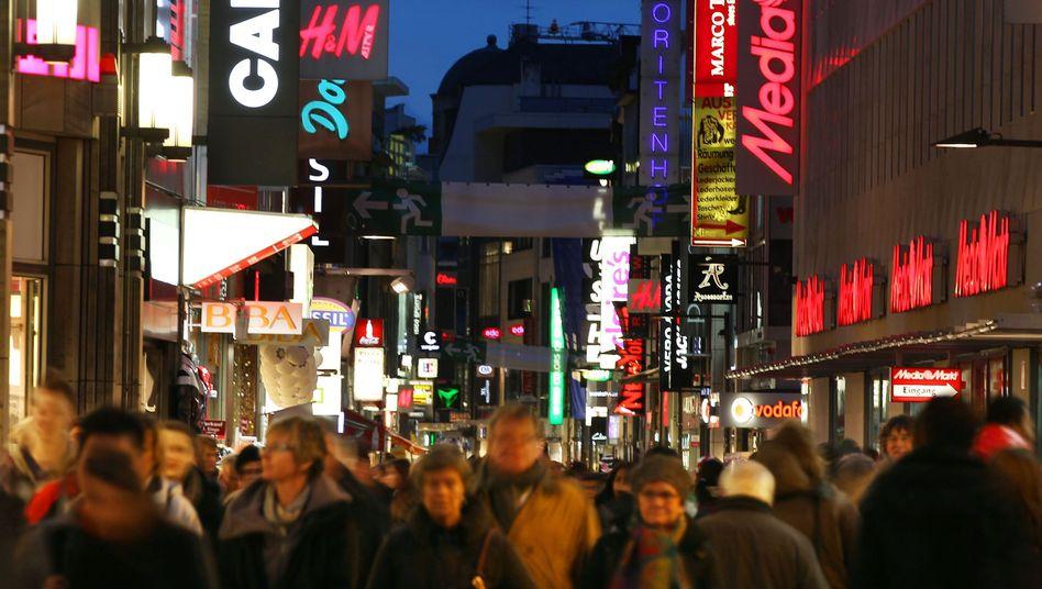 Weihnachts-Shopping in Köln: 2012 bleibt für den Konsum weniger übrig