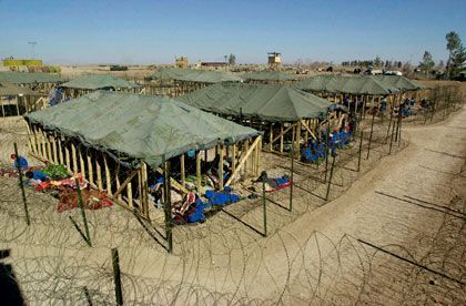 A US prison in Afghanistan for al-Qaida and Taliban fighters.