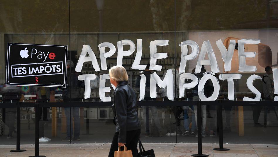 Anti-Apple-Protest in Aix-en-Provence im November