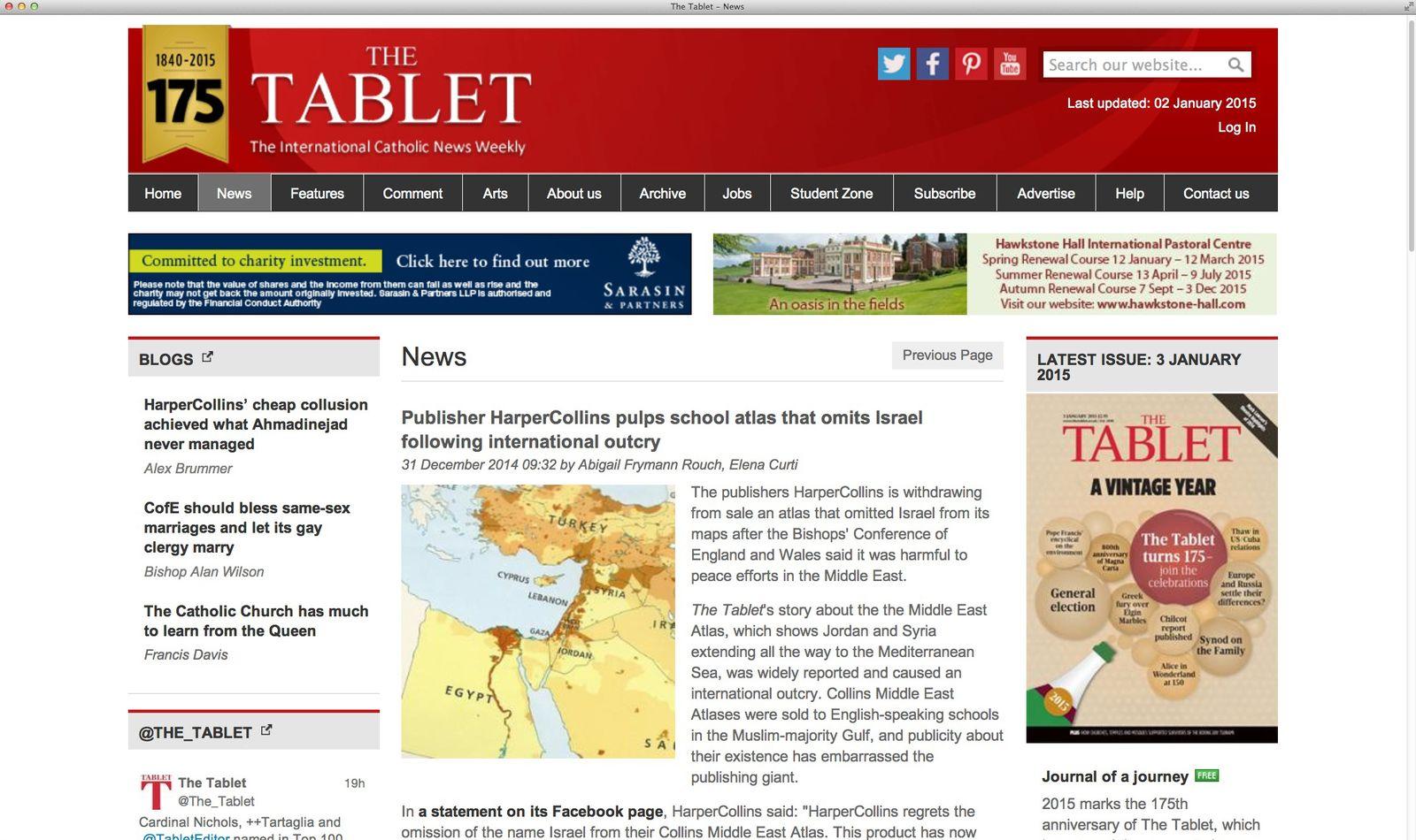 EINMALIGE VERWENDUNG NUR ALA ZITAT Screenshot/ The Tablet
