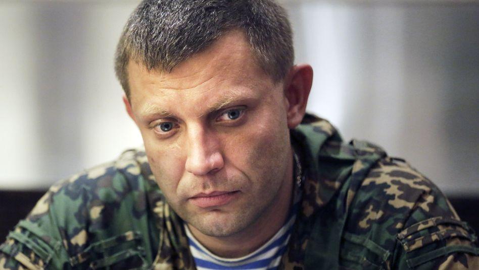 Separatistenführer Sachartschenko: Vormarsch bis an die Grenze der Region Donezk