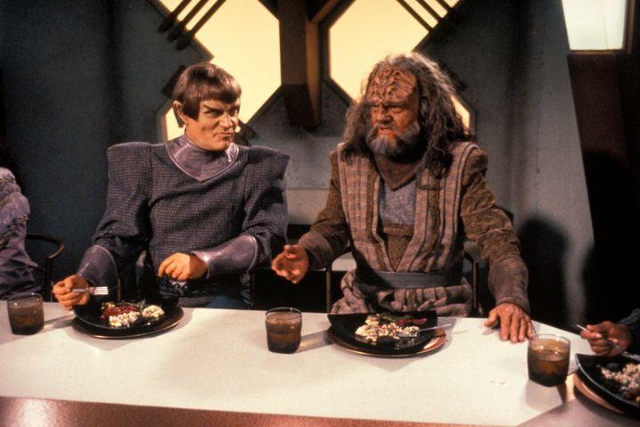"""Auch unter Make-up noch ein expressiver Schauspieler: Richard Herd als Klingone L'Kor in """"Star Trek"""""""
