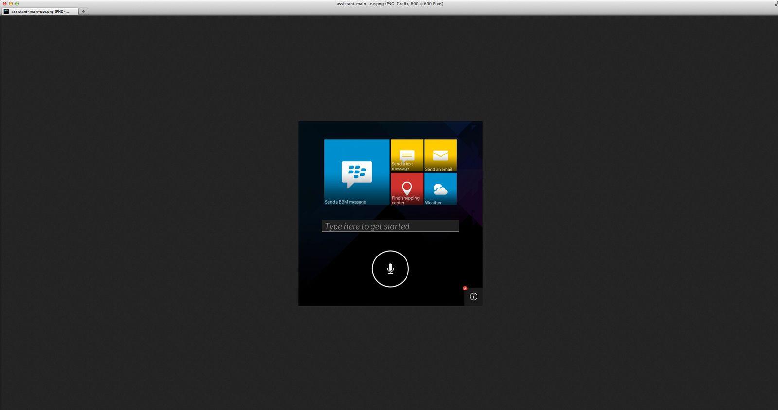 NUR ASL ZITAT Screenshot/ Blackberry Assistant