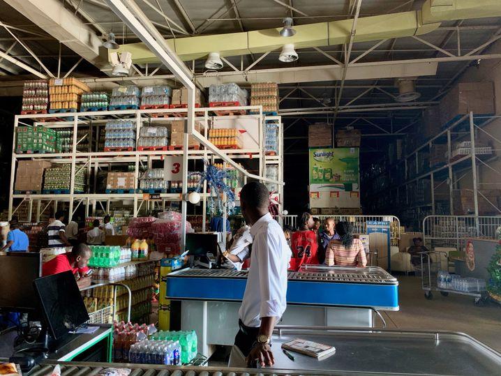 Stromausfall in einem Supermarkt