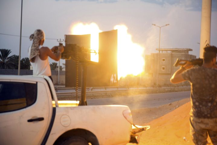 Kämpfer in Tripolis