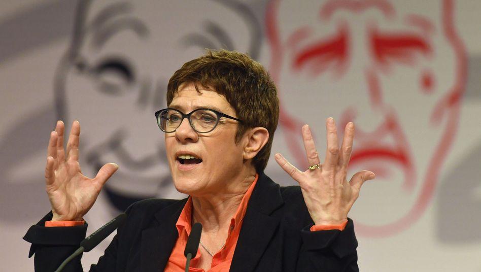 Annegret Kramp-Karrenbauer beim Politischen Aschermittwoch der CDU Mecklenburg-Vorpommern in Demmin
