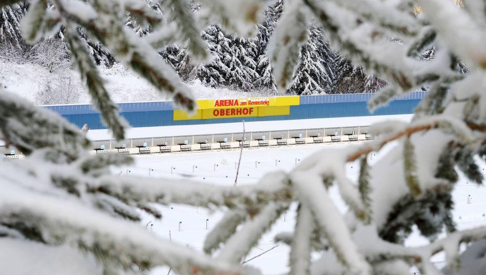 So sah Oberhof im vergangenen Winter aus. In diesem Jahr muss der Schnee erst herangeschafft werden.