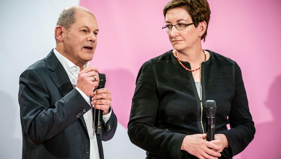 Olaf Scholz, Klara Geywitz: Spaß am ungewohnten Offensivgeist