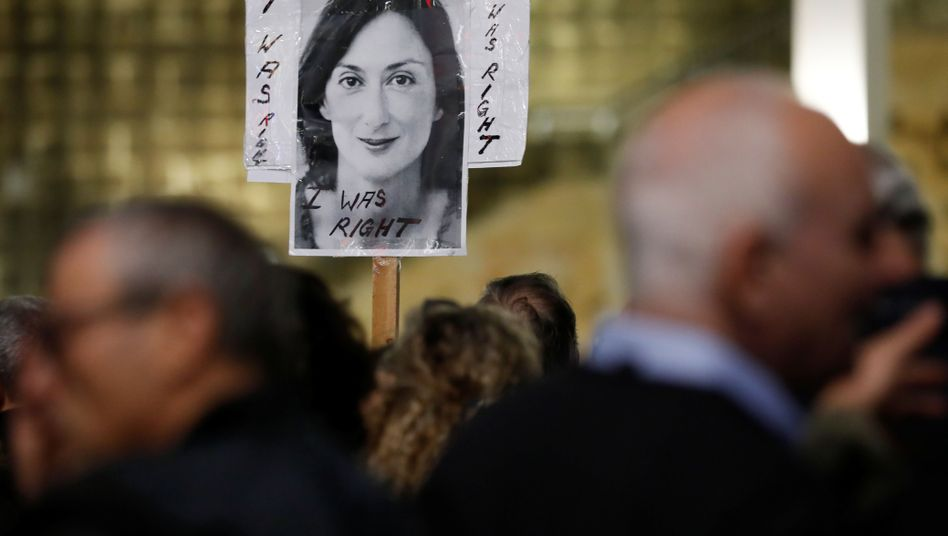Protest in Valletta: Die Hintergründe des Mordes an Caruana Galizia sind noch immer nicht vollständig aufgeklärt