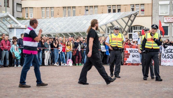 Protest gegen AfD-Wahlkampfveranstaltung in Pforzheim