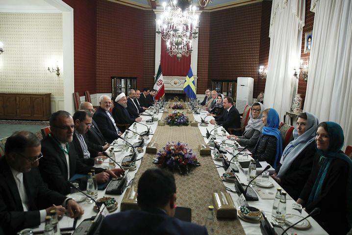 Delegationen in Teheran
