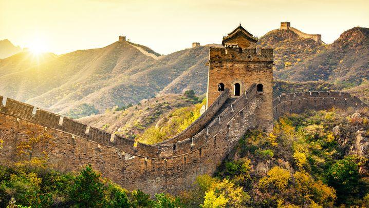 Chinesische Mauer: Wo sie nicht überlaufen ist