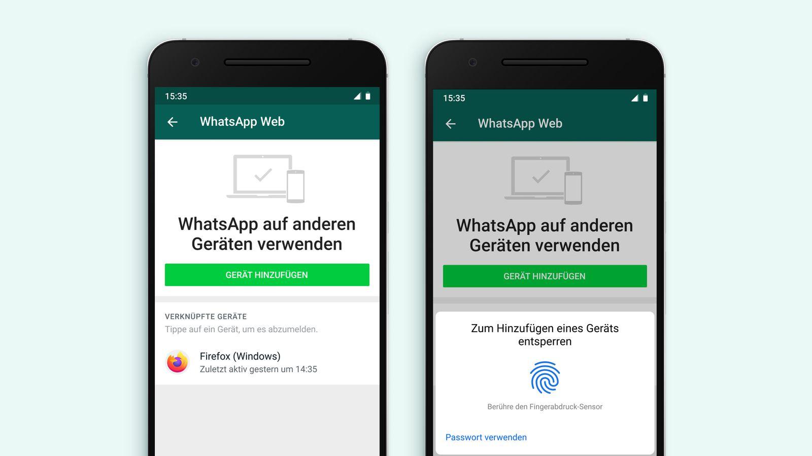 WhatsApp Biometrie