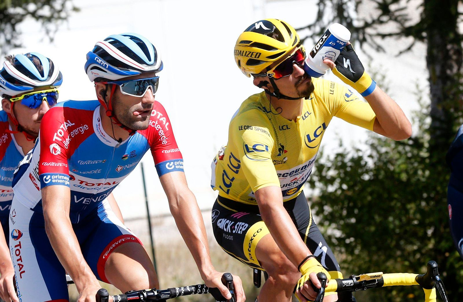 PRIVAS, FRANCE - SEPTEMBER 02 : BONIFAZIO Niccolo (ITA) of TOTAL DIRECT ENERGIE & ALAPHILIPPE Julian (FRA) of DECEUNINCK