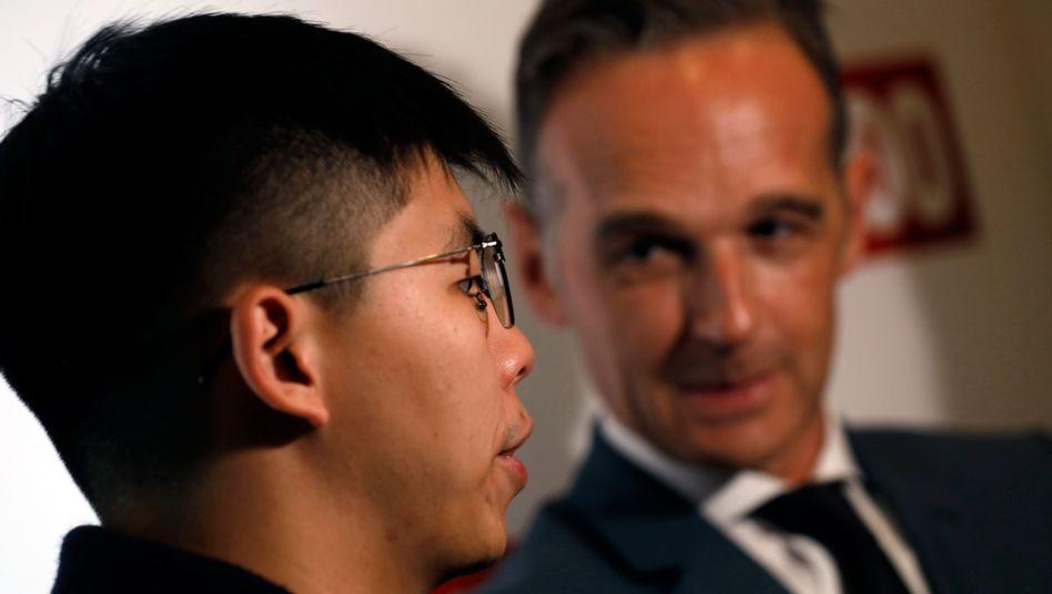 """Joshua Wong und Heiko Maas: """"Akt der Respektlosigkeit"""""""