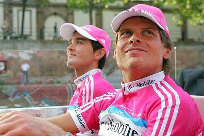 Jan Ullrich of Germany (right) is at the center of the blood doping scandal.