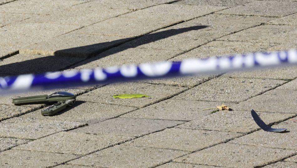 Am Tatort wurden Teile eines Messers gesichert