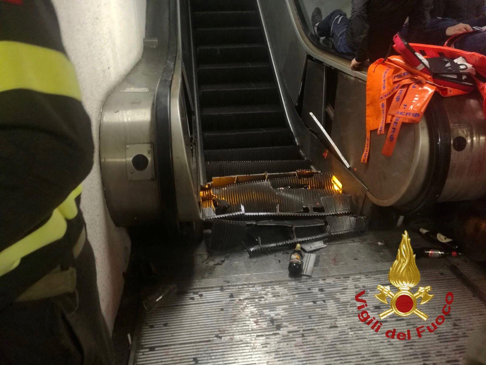 Einsturz einer Rolltreppe in Rom vor CL-Spiel