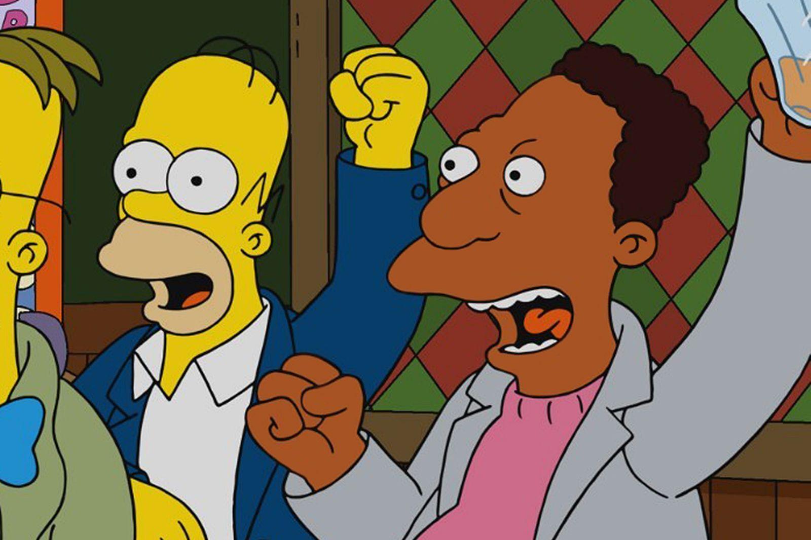 THE SIMPSONS, wearing suspenders: Lenny Leonard (voice: Harry Shearer)...